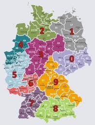 PLZ Gebiete Deutschland